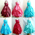 Cute Burgundy Apple red Mint Teal green Turquoise Plum wedding flower girl dress