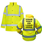 Custom Printed Personalised SUPERTOUCH Hi Vis Viz Coat Parka Jacket High