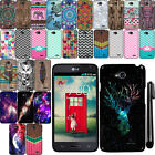 For LG Optimus L70 MS323 Cute Design SILICONE Rubber Soft Case Phone Cover + Pen