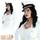 Sexy Sea Sailor Fancy Dress Military Uniform Captain Ladies Costume Outfit + Hat