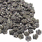 25 50 100 Tibetan Silver Metal Round Double Sided Daisy Flower Spacer Beads 5mm