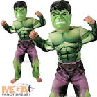 Incredible Hulk Boys Marvel Comics Fancy Dress Kids Superhero Childs Costume New