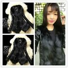 Stylish Women Winter Faux Fox Fur&Sheep Skin Coat Jacket Vest Parka Overcoat -LA