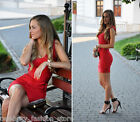French Connection Red Spotlight Ribbon Knits Bandage Bodycon Mini Party Dress 10