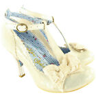 Womens Irregular Choice Floxy Mid Heel Bow Court Shoe Ankle Strap Slip On UK 3-8