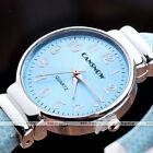 Womens Ladies Gold Silver Round Quartz Analog Fashion Dress Bracelet Wrist Watch