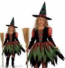 Girls Witch Costume Girls Witches Outfit Halloween Costumes Fancy Dress 4-12 yrs