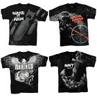 NEW! Rothco Vintage Black Military Blown Up Graphic T-Shirts; 4 Themes R66310