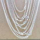 "Fashion Jewelery 5Pc 925 Sterling Silver 2mm Circle Rolo Chain Necklace 16""-30"""