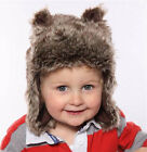 Baby Hat Faux Fur Russian Trapper Cute Ears Boys Girls Warm Cosy Winter Hat New
