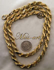 HuGe! & RaRe Diamond-Cut Rope VINTAGE SOLID BRASS Chain Necklace LAST Miss-art