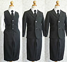 LTF Black toddler teen wedding party graduation boy tuxedo formal dress suit