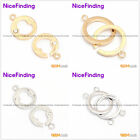 Jewelry Making Necklace  Findings Inlayed  Clasps Yellow White 14K Gold Plated