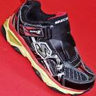 NEW Boy's Toddler's SKECHERS GALVANIZED Black LIGHTS  Athletic Sneakers Shoes