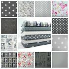 "ALL NEW GREY COTTON POPLIN DESIGNS 45"" /112CM WIDE 100% COTTON FABRIC dot floral"