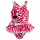 Disney Store Minnie Mouse 1 PC Deluxe Tutu Swimsuit Swimwear Girl Size 2/3