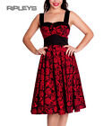 HELL BUNNY Black 50s ARCADIA DRESS Roses Anchors Red All Sizes