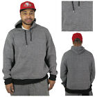 Black Ink Tweed Men's Pullover Hoodie Sweatshirt Top
