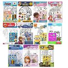 CHARACTER A4 COLOURING SETS (+Stickers/Pencils) (Kids/Creative/Toy)
