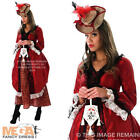 Red Harrington Dress + Hat Ladies Fancy Dress Lone Ranger Womens Western Costume
