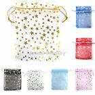 200X New Organza Stars Jewellery Party Gift Packaging Bags Size / Colour Choice