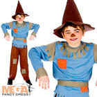 Scarecrow + Hat Boys Fancy Dress Childs Book Week Character Kids Costume Outfit