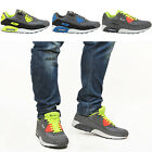 MENS BOYS LACE UP RUNNING WALKING SPORTS GYM LIGHTWEIGHT TRAINERS SHOES SIZE