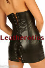 Genuine leather dress top black clothing Uk 4 6 8 10 12 14 16 18 20 22 md20
