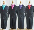 Black Red Turquoise Fuchsia Purple baby toddler boy christmas party formal suit