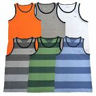 Tommy Hilfiger Mens Tank Top Classic Fit T-shirt Solid And Striped Tee Logo V173