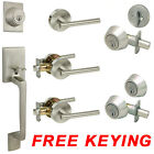 Designers Impressions Kain Contemporary Satin Nickel Door Levers Hardware