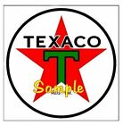 Texaco 'B' Gasoline Magnets Vinyl Stickers Decals Motor Oil Gas Globe