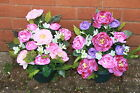 outdoor artificial flowers ranunculus weighted flower pot arrangement