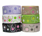 "9mm 3/8"" Premium Magic Big/Small Dots Grosgrain Ribbon Eco CLEARANCE"