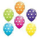 6 x Colorato CUORI Palloncini In Lattice Elio/AirValentines/Festa/Love Qualatex