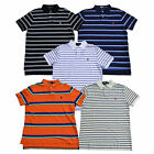 Polo Ralph Lauren Mens Custom Fit Polo Shirt Striped Short Sleeve Pony Logo V091