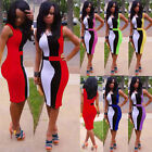 WOMENS SEXY BANDAGE BODYCON PARTY DRESS COCKTAIL SLIM EVENING PENCIL DRESS S~XL