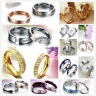 Stainless Steel Promise Wedding Bands Comfort Fit Engagement Ring For Couple US