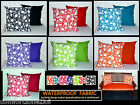 2x REVERSIBLE WATERPROOF FABRIC SCATTER CUSHION COVERS GARDEN FURNITURE WASHABLE