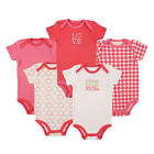 Luvable Friends Girls 5 Pack Sugar and Spice Bodysuits