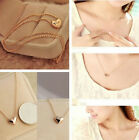 Silver/ Gold Plated Love Heart Jewelry Pendant Bib Statement Chain Necklace