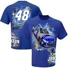 2015 Jimmie Johnson #48 Lowes Hot Wired Tee Shirt Blue Double Sided