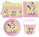 Disney BABY MINNIE MOUSE Birthday PARTY RANGE (Tableware & Balloons)