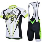 New Bike Cycling Clothing Bicycle Short Sleeve Jersey + (Bib) Shorts 3D GEL Pad