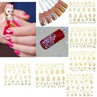 3D DIY Gold Silver Flowers Design Nail Art Stickers Decoration Tips Decals Hot
