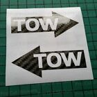 TOW Carbon Fibre Vinyl Stickers Decals Race Rally Trackday Racing Motorsport d2