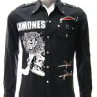 Sz S M L XL 2XL  Ramones Long Sleeve Shirt Punk Biker Tee Many Size Jrm2