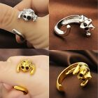 Fashion Cute Women Gothic Animal Rings Cat Kitty Shaped Style Metal Silver New