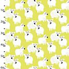 YELLOW SHEEP - STUDIO E - COTTON FABRIC CUTE CHILDREN LAMBS FARM