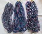 "10 x 16"" Strands of PEACOCK GLASS BEADS (BLUE/PURPLE Tones) CHOICE of 3 SIZES"